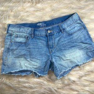 OLD NAVY Denim shorts w/ ripped hem